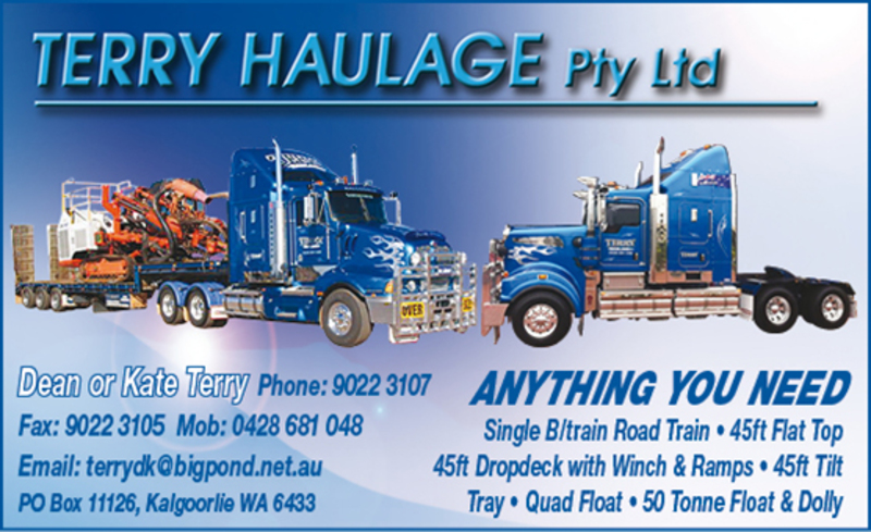 Terry Haulage; Kalgoorlie's Trusted Experts